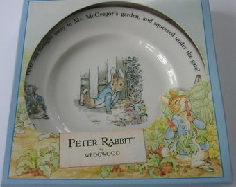 Peter Rabbit Children's Plate, Vintage Wedgwood Peter Rabbit Plate