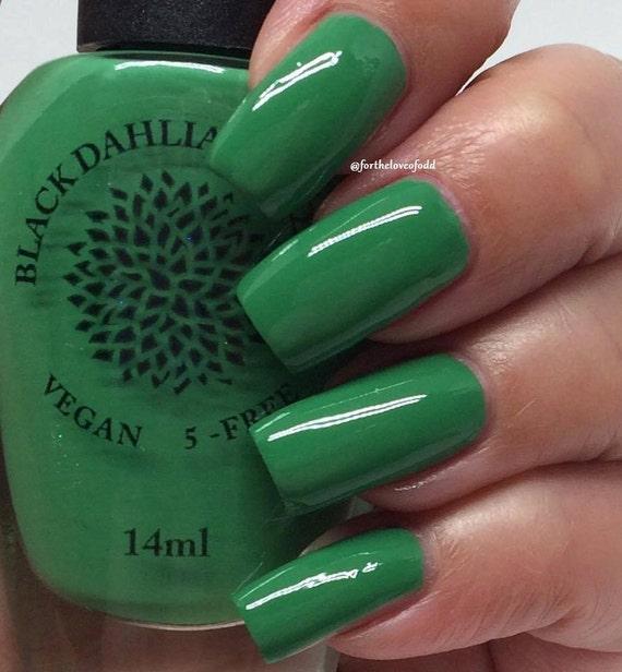 Kelly Green Creme Nail Polish By Black Dahlia Lacquer