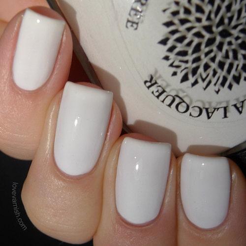 White Nail Polish By Black Dahlia Lacquer Oriental Lilies