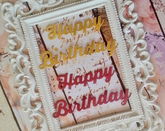 Happy Birthday (IO) cut out. 1 pack of 10 set. Perfect for all your birthday project!