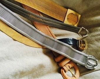 5 Vintage Japanese Metal Belts