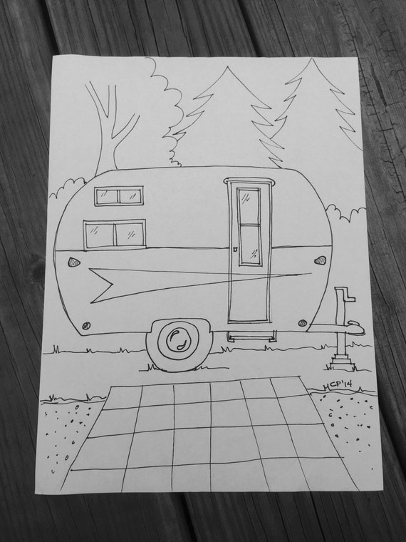 Instant Download Vintage Arrow Travel Trailer by PittStar