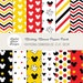 INSTANT DOWNLOAD - 12 Mickey Mouse Digital Papers / Scrapbooking, Crafts, Invitations, Digital Scrapbooking for Commercial & Personal Use