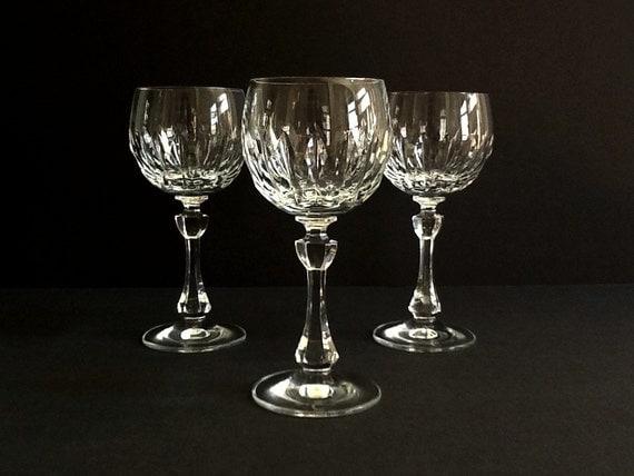 Crystal Wine Glasses Set Of 3 Christinenhutte Crystal Wine