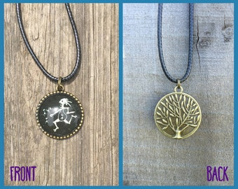 Widespread Panic Noteeater Necklace with Tree of Life Back