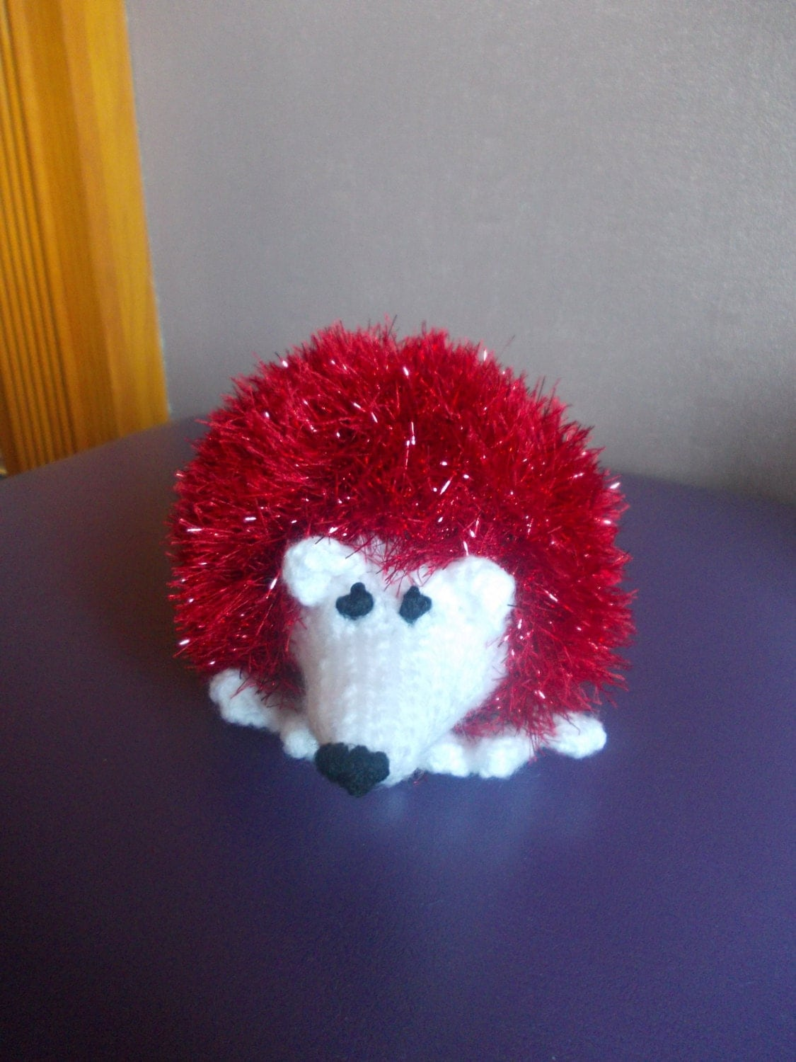 Stuffed Hedgehog Knitting Pattern : Hand knitted hedgehog stuffed toy knitted toy soft toy
