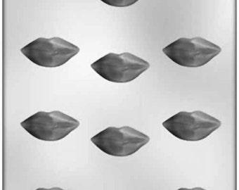 "1 5/8"" Lips Chocolate Candy Mold Valentines Wedding Soap Plaster Fondant #90-1036"