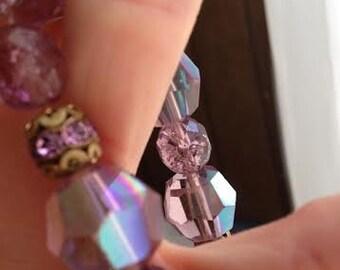 Handmade Purple/Pink Bracelet