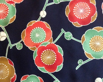 Plum flower Japanese kimino fabric, 0.9m panel