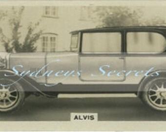 Digital Image - Vintage Car Cigarette Card-  For crafts, decopage, decoration, scrapbooking