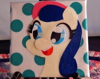 """Bon Bon Papercraft 4"""" x 4"""" Canvas"""