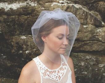 Blusher Veil, Short Veil, Wedding Veil, Birdcage Veil, Tulle Veil, Tulle Headpiece, Wedding Headpiece, Bridal Headpiece- Style 200- Analise