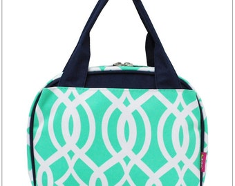 Mint Vine,  Lunch Box, Lunch Tote, Thermal Insulated, Monogramed