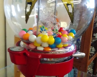 Vintage Penny Gum ball Machine by Columbus Vending Company