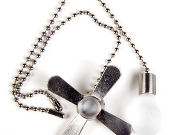 CEILING FAN and LIGHT Pull Chains 0294843 easy to install Brushed Nickel and White Metal fan pull  1B2H E