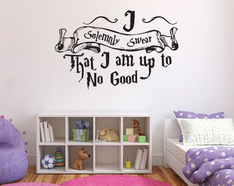 Harry Potter Wall Decal Quote - I Solemnly Swear