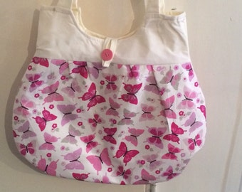 Butterfly tote bag.