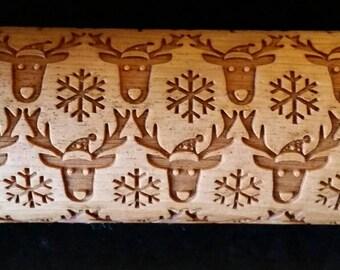 Reindeer Christmas Rolling Pin
