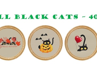 All black cats patterns - 40 dollars