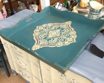 EXAMPLE  Ottoman Tray,  Bed Tray, Serving Tray,  Large Tray