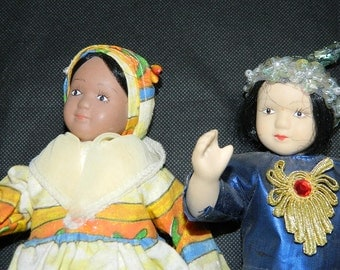 2 alien dolls, exotic DOLLS, vintage