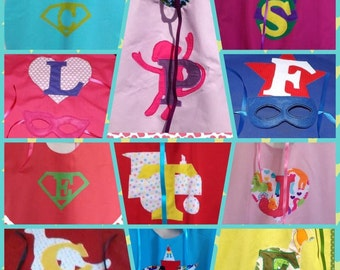 Children's superhero cape and mask sets