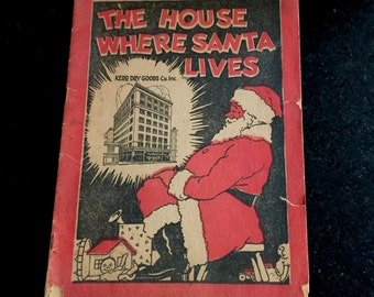 Vintage Christmas Coloring Book The House Where Santa Lives Toy Fair Compliments