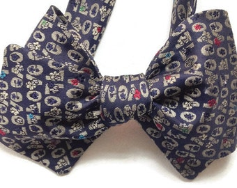 Silk Bow Tie for Men - LOVE - Handcrafted, Self-tie - Free Shipping