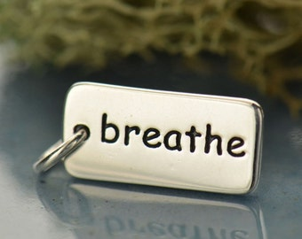 Sterling Silver Breathe Charm