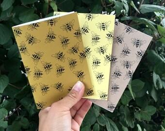Bee Journals, Pocket Journal Set, Honey Bee Gifts