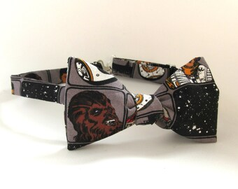Star Wars Bowtie Chewy Space Chewbacca Self Tie Bow tie Mens Gift Sci Fi Geekery Galaxy Stars Sci Fi Boy Men Extra Long Freestyle Adjustable