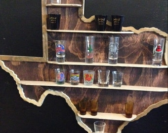 TX Shot Glass Shelf