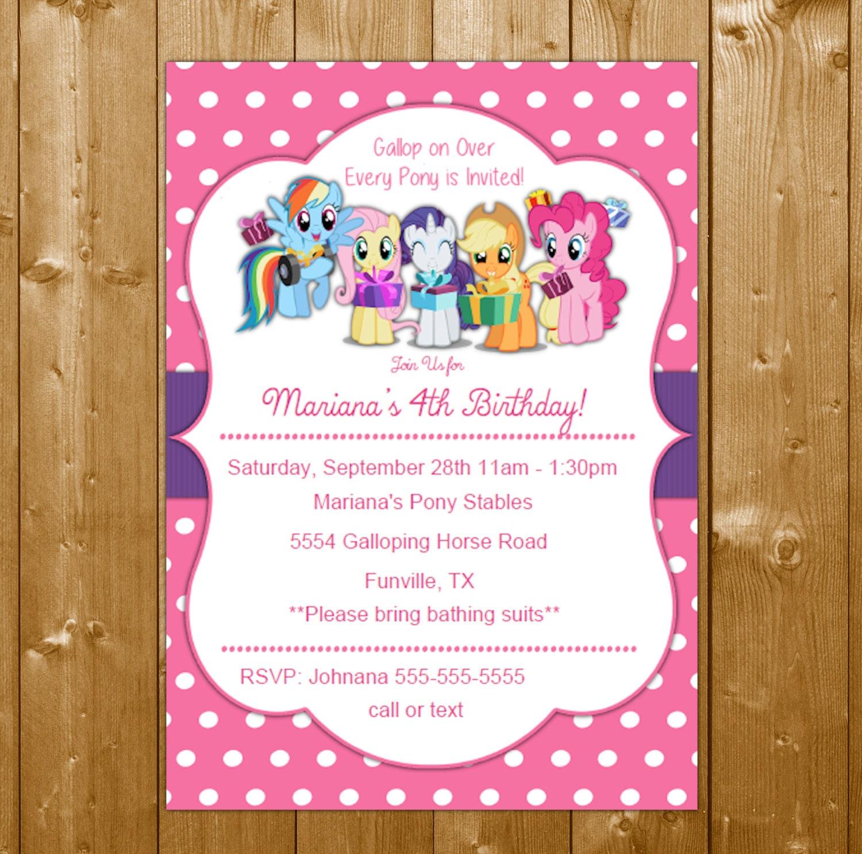 My Little Pony Invitation Birthday Party Invitation My ...