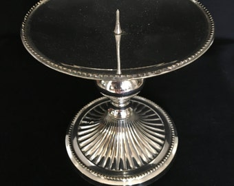 Silverplate Candle Stand Footed Candle Holder