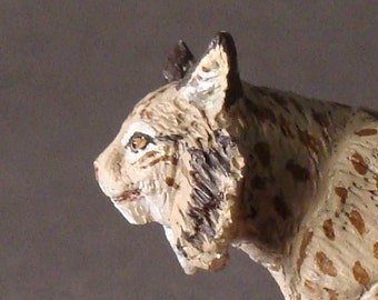 male iberian lynx (lynx pardinus) 1:20/resine/Hand painted/ collector