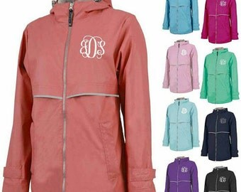 Monogram Rain Jacket, Charles River, Women's Rain Jacket