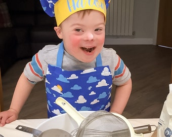 MBJM Aaron's Chef Set - Adjustable Apron and Hat (Approx. Age 3 - 8) downloadable pdf sewing pattern CHARITY LISTING