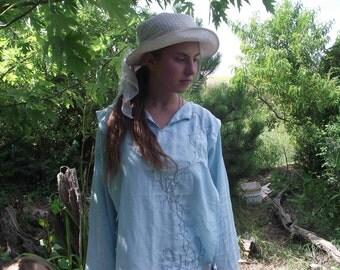 Linnen shirt in light blue