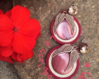 The earrings swarovski charm soutache ali