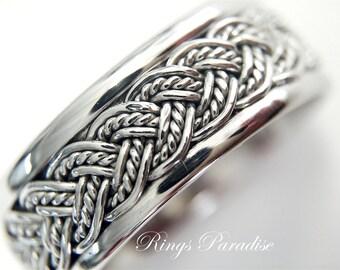 unique celtic ring 14k gold celtic wedding band by