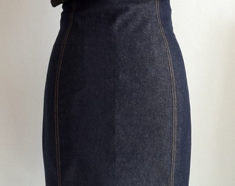 pencil skirt, high waist, length under knee