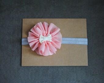 Light Pink Fabric Flower Headband