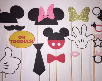 Minnie mouse photo booth props - Mickey Mouse photo booth props - Mickey/Minnie photo booth Props - Minnie Mouse party - Mickey Mouse party