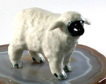 Sheep - handpainted porcelain figurine 4629