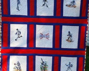 Baseball Quilt Wallhanging