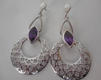 Amethyst Earrings | Amethyst | Earrings | Silver Earrings | Sterling Silver Earrings |Amethyst Jewelry | Gemstone Jewelry | Gift for her