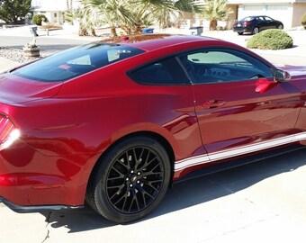 2015 2016 2017  Mustang PLAIN Side Rocker Stripe graphics set