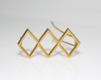 Triple Diamond Barrette