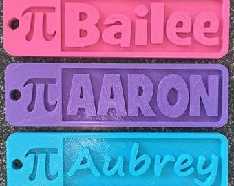 Personalized 3D printed name tags for luggage by MakeIt3D on Etsy