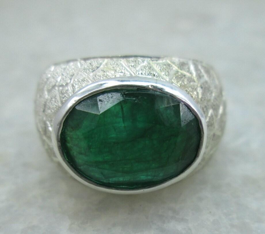 carats emerald ring men 39 s huge gemstone emerald ring. Black Bedroom Furniture Sets. Home Design Ideas